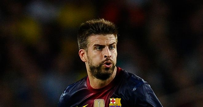 Gerard Pique: Has been included in Barca squad to travel to Celtic