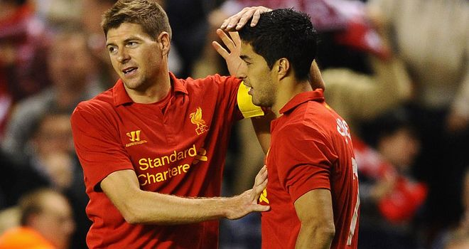 Steven Gerrard: Rates Luis Suarez as the most complete striker he has played alongside