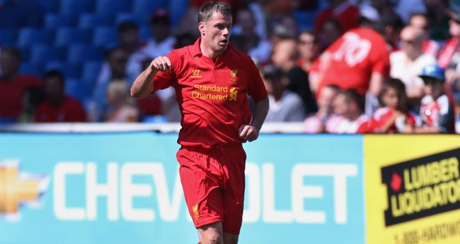 Jamie Carragher: Made his 700th Liverpool apperance in the victory over Gomel