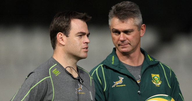 Johann van Graan (left): Boks pack must deliver against Australia
