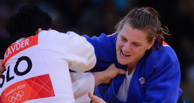 Karina Bryant: Claimed a bronze judo medal after beating Iryna Kindzerska of Ukraine.