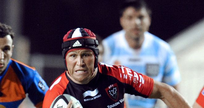 Matt Giteau: scored two tries for Toulon in their narrow win over Racing Metro