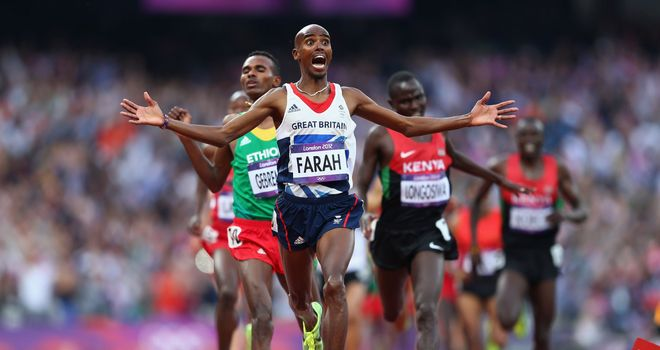 Mo Farah lights up London 2012 with double gold.