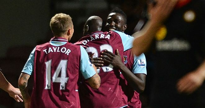 Modibo Maiga: Was among the goals as West Ham beat Crewe in the Capital One Cup