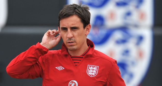 Gary Neville: Says the experience of playing in Brazil will stand England in good stead