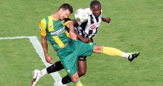 Newcastle in action against Den Haag