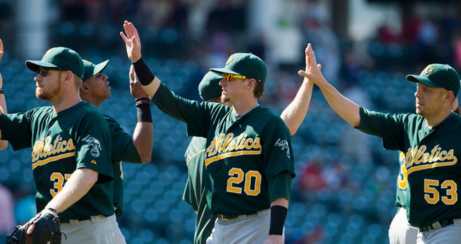 Oakland Athletics: Celebrate against Cleveland
