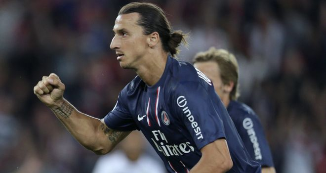 Zlatan Ibrahimovic: At the double for PSG on his debut for the French club