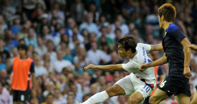 Park Chu-Young: On target for South Korea against Japan at the Millennium Stadium