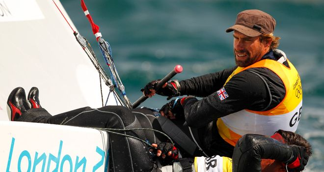Iain Percy and Andrew Simpson saw gold slip through their fingers in the medal race