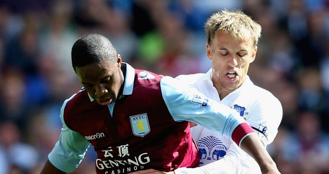 Phil Neville: Everton were three goals in front inside the opening half at Villa Park