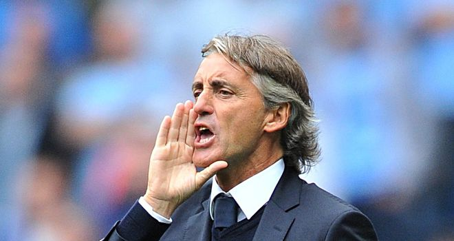Roberto Mancini: Manchester City boss will be targeting a win against Real Madrid in the Champions League