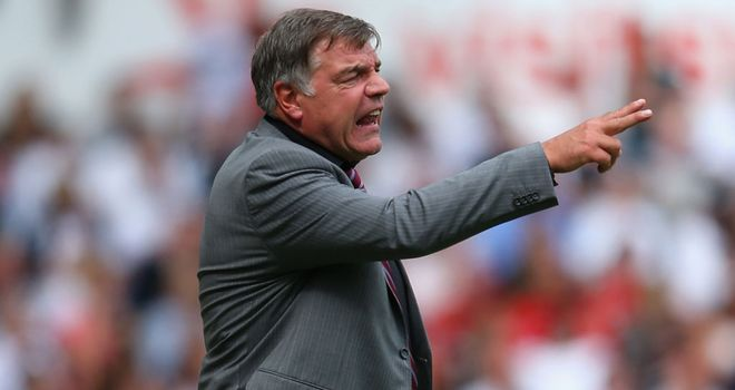 Sam Allardyce: Demanding an improvement from his West Ham strikers
