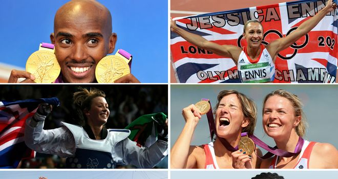 A selection of Great Britain's gold medal winners