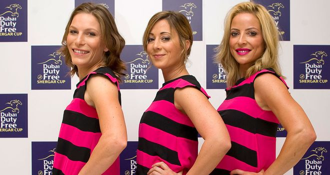 Hayley Turner (centre) is set to lead the girls team at Ascot