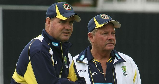 Steve Rixon (r) will take over on a temporary basis from Mickey Arthur