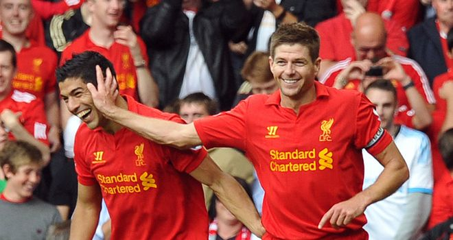 Steven Gerrard: Wants Luis Suarez to stay at Anfield