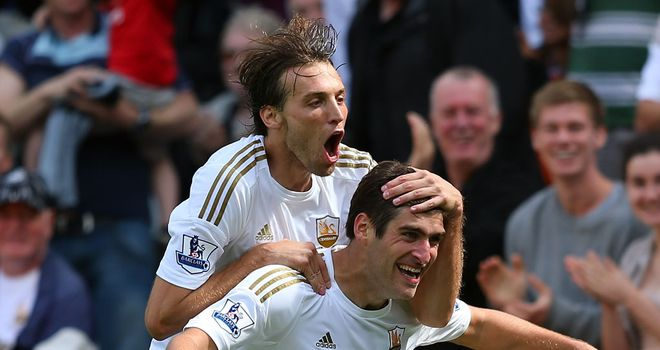 Michu: Happy at Swansea and developing a good relationship with Danny Graham