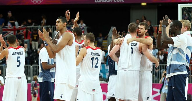 Team GB basketball stars at London 2012