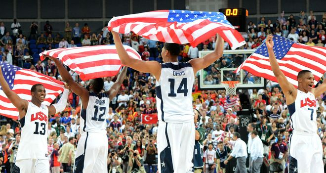 The United States men's team: Celebrate their hard-fought victory
