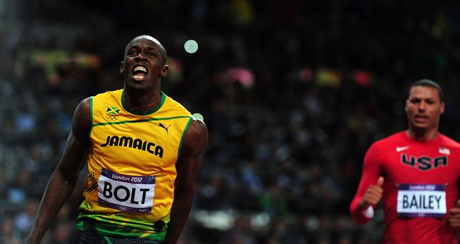 Usain Bolt: Defended his Olympic 100m title in fine style