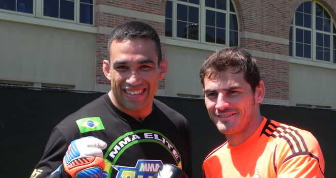 Fabricio Werdum and Iker Casillas