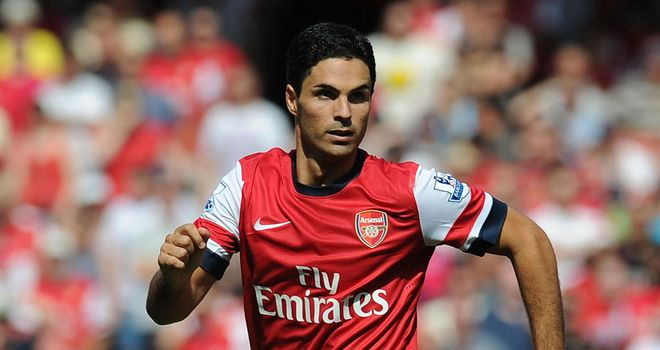 Mikel Arteta: Enjoying his new role as a deep-lying midfielder