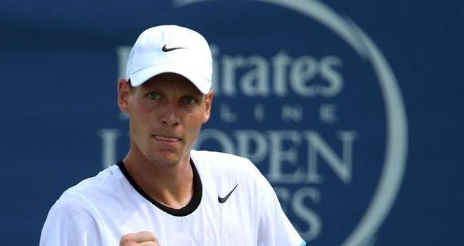 Tomas Berdych: Opened his campaign in North Carolina with a straight sets victory