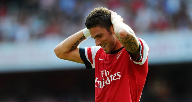 Olivier Giroud: Yet to score since joining Arsenal