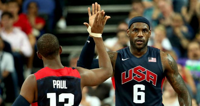 Chris Paul and LeBron James: helped the United States through to the final