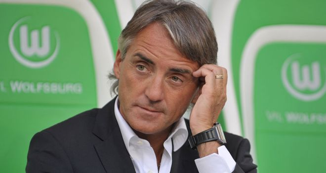 Roberto Mancini: Believes rivals United have the best strikeforce in world football
