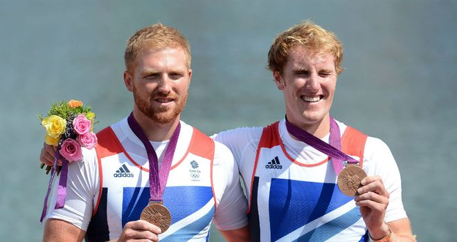 George Nash and William Satch took bronze in the men's pairs final