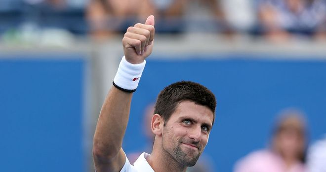 Novak Djokovic: One of several players to come through two matches on Friday