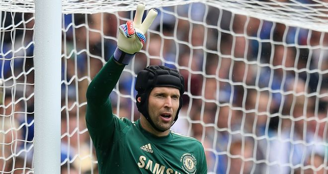 Petr Cech: String of saves preserved Chelsea&#39;s lead at the Emirates.