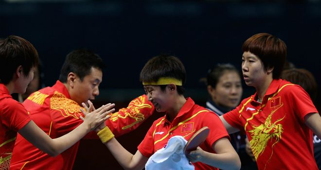 China's women celebrate victory over South Korea