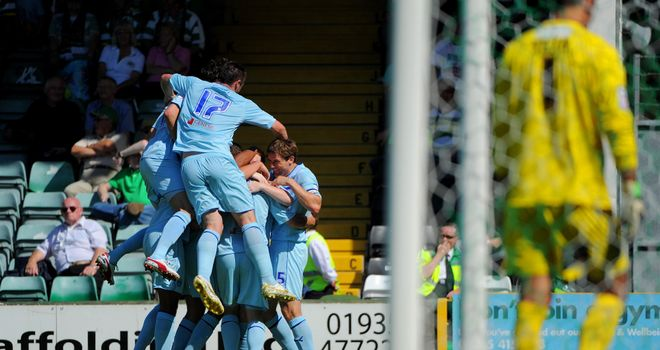 McDonald: Mobbed by his team-mates