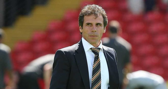 Gianfranco Zola: Wants his Watford player to be in top condition