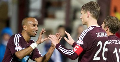 Marius Zaliukas: Last-gasp equaliser for Hearts
