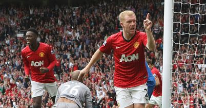 Scholes: On target in United win