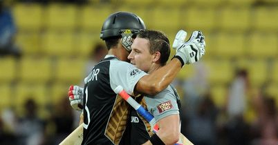 Ross Taylor and Brendon McCullum in action for New Zealand