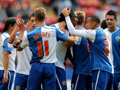 Rovers celebrate Etuhu's opener against Charlton
