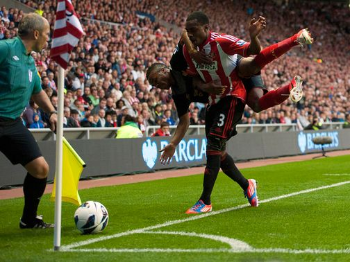 Danny Rose in action for Sunderland