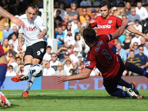 Dimitar Berbatov nets against West Brom