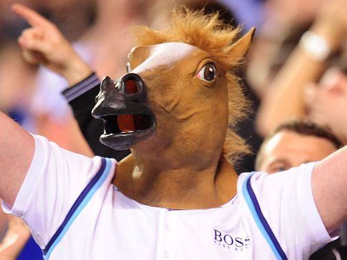 A horse mask ranks as Cheeky's top eBay purchase