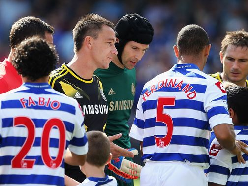 Ferdinand ignores Terry's outstretched hand