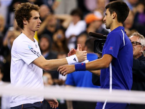 Murray (l) and Djokovic will face off at the O2