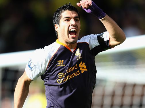 Luis Suarez: Hat-trick at Carrow Road