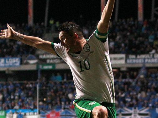 Robbie Keane: Firmly behind the Republic boss