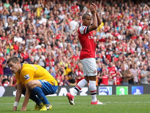 Theo Walcott notches Arsenal's sixth goal