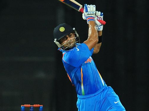 Virat Kohli: top scored for India with 50 off 39 balls